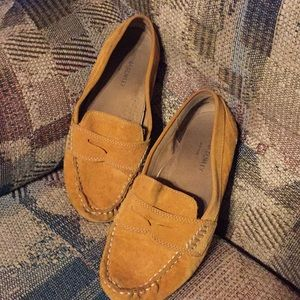 Cynthia Rowley suede driving loafers